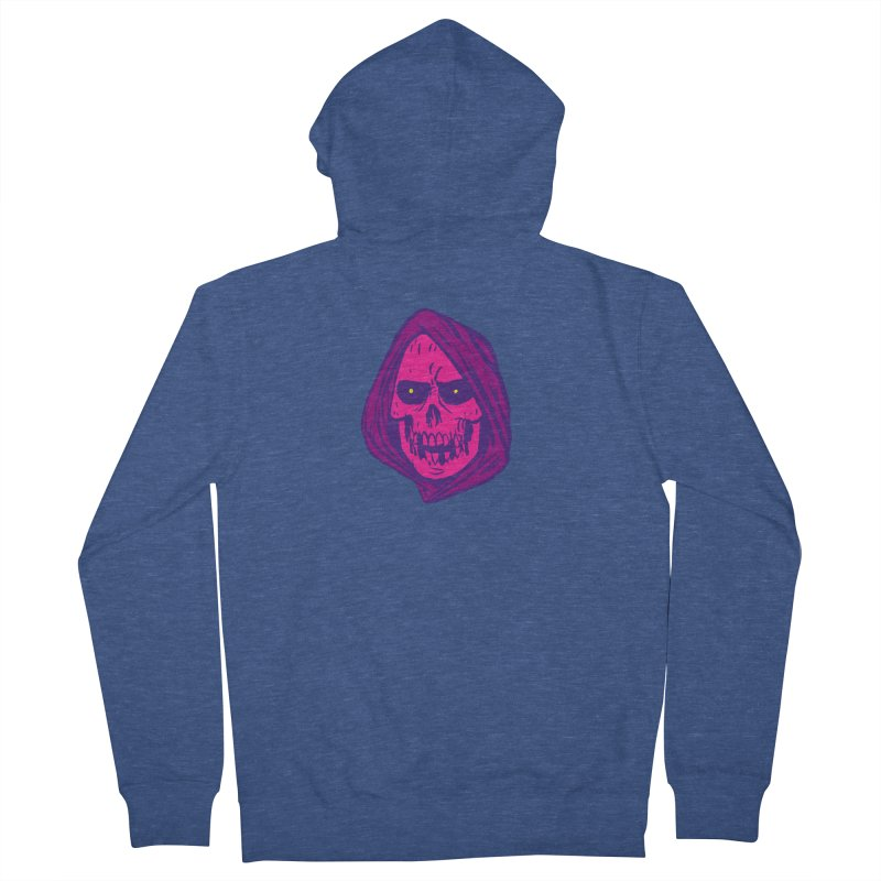 Skull Women's French Terry Zip-Up Hoody by JB Roe Artist Shop