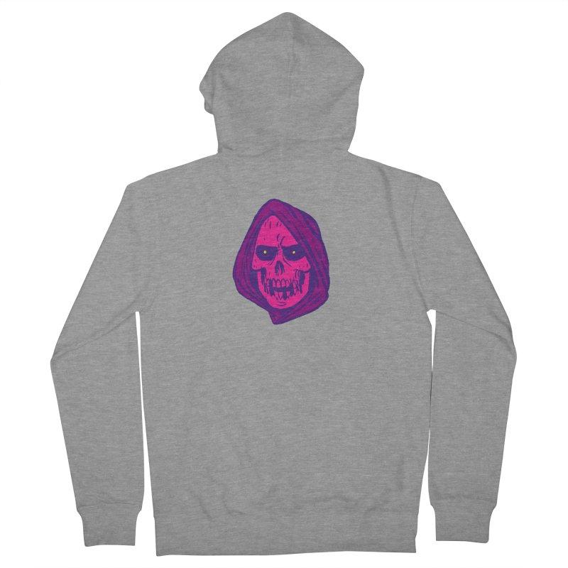 Skull Men's French Terry Zip-Up Hoody by JB Roe Artist Shop