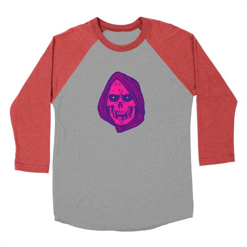 Skull Men's Baseball Triblend Longsleeve T-Shirt by JB Roe Artist Shop