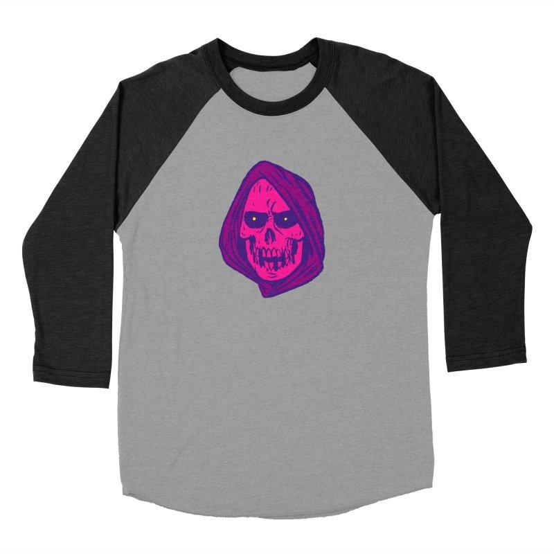 Skull Men's Baseball Triblend Longsleeve T-Shirt by JB Roe Artist Shop