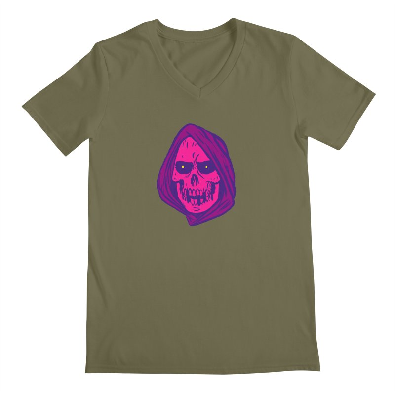 Skull Men's Regular V-Neck by JB Roe Artist Shop