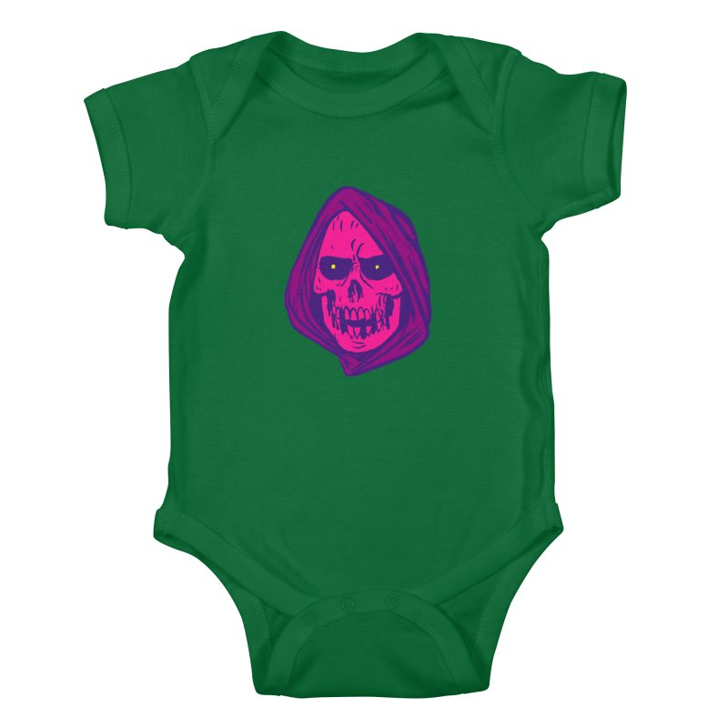 Skull Kids Baby Bodysuit by JB Roe Artist Shop