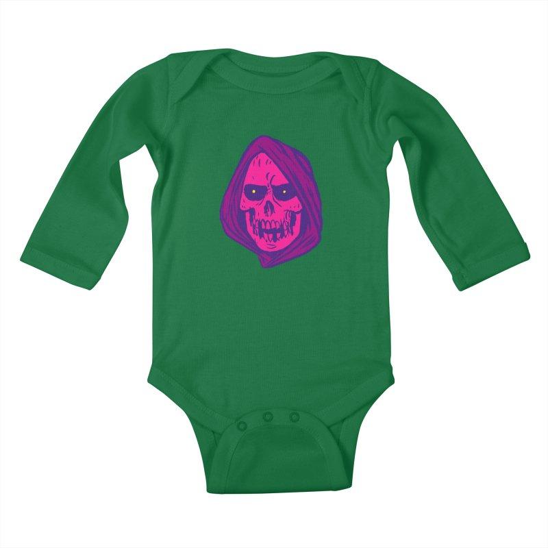 Skull Kids Baby Longsleeve Bodysuit by JB Roe Artist Shop