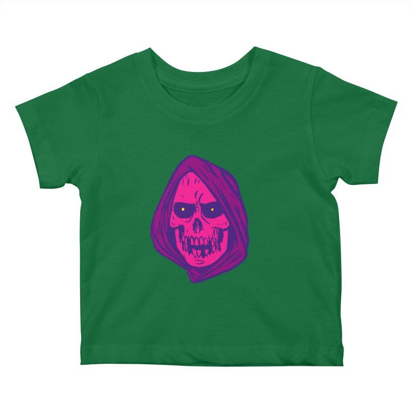 Skull Kids Baby T-Shirt by JB Roe Artist Shop