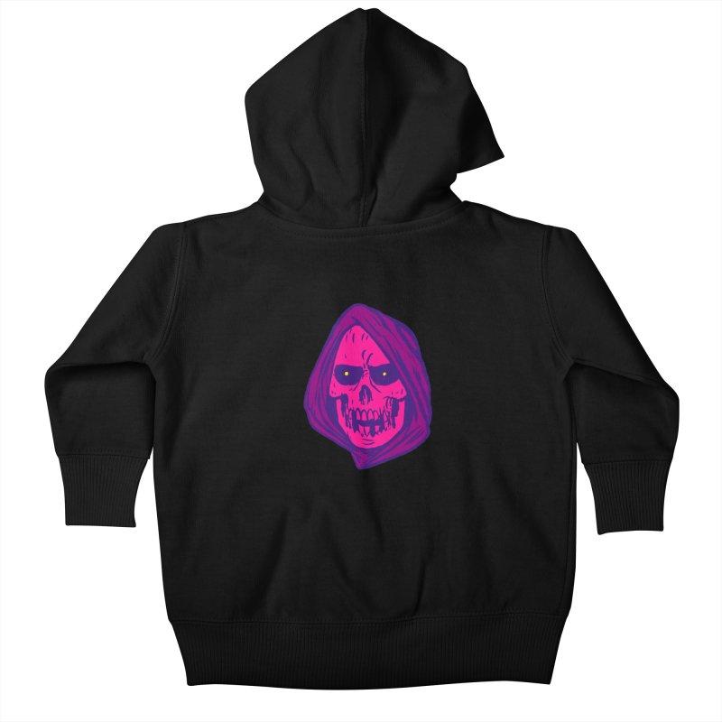 Skull Kids Baby Zip-Up Hoody by JB Roe Artist Shop