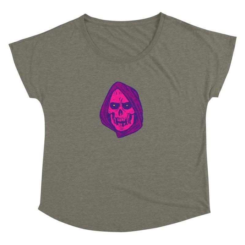 Skull Women's Dolman Scoop Neck by JB Roe Artist Shop