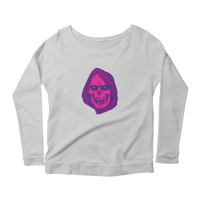 Skull Women's Scoop Neck Longsleeve T-Shirt by JB Roe Artist Shop