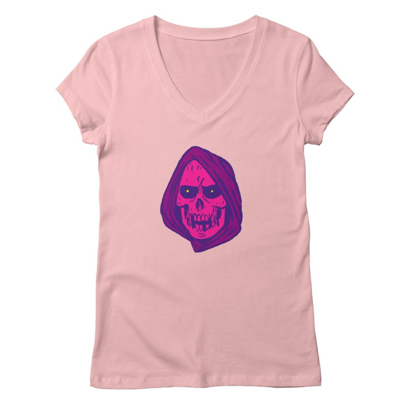 Skull Women's Regular V-Neck by JB Roe Artist Shop