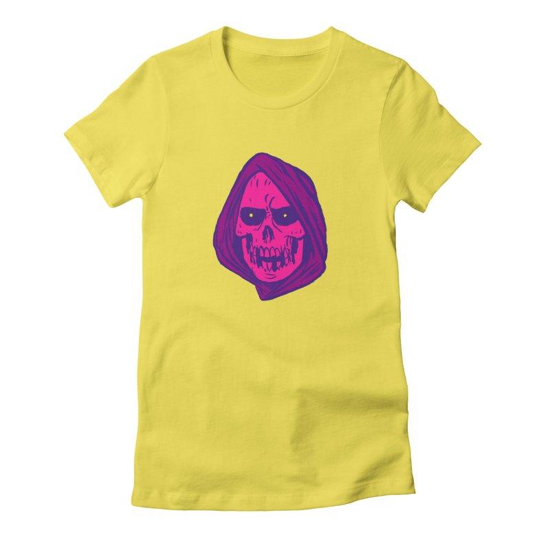 Skull Women's Fitted T-Shirt by JB Roe Artist Shop