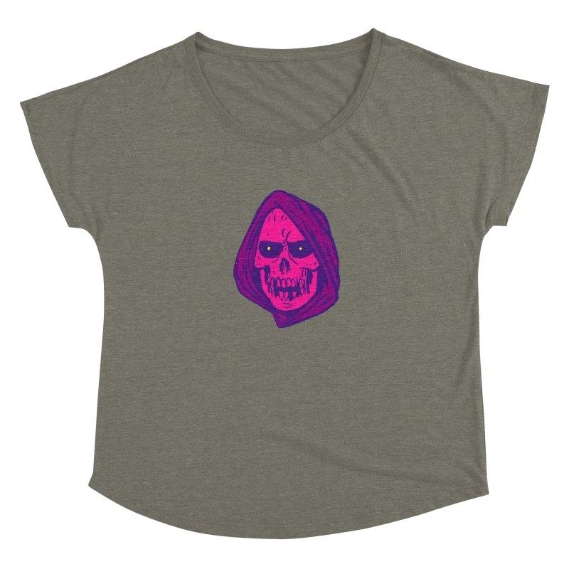 Skull Women's Scoop Neck by JB Roe Artist Shop