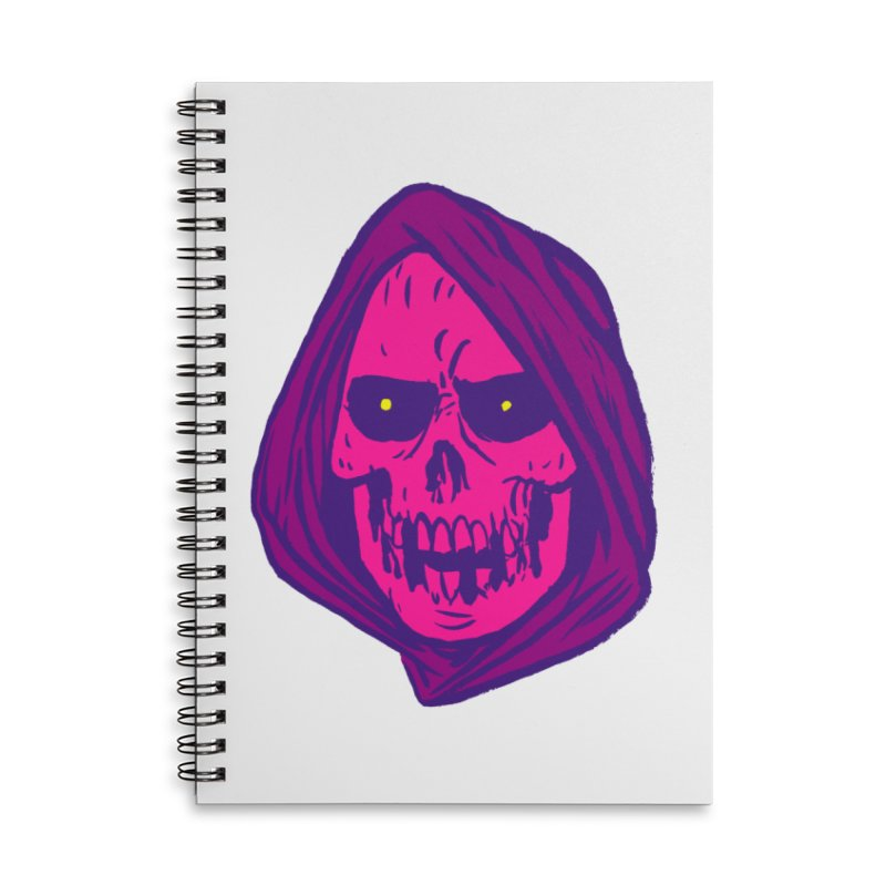 Skull Accessories Lined Spiral Notebook by JB Roe Artist Shop