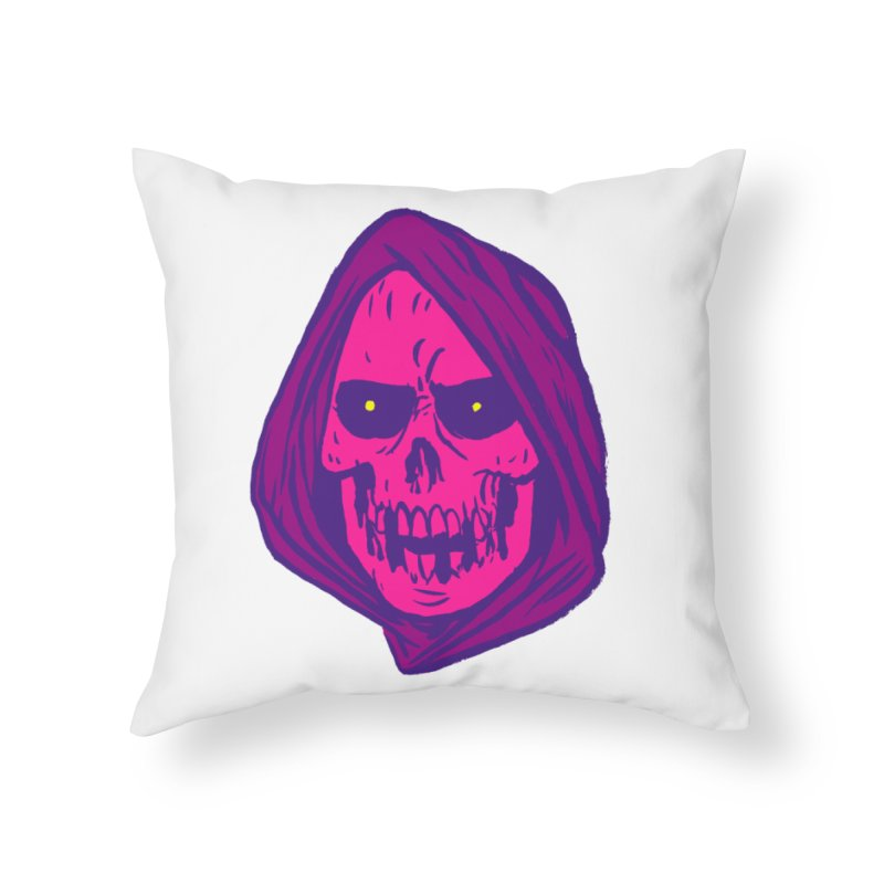 Skull Home Throw Pillow by JB Roe Artist Shop