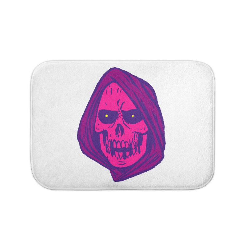 Skull Home Bath Mat by JB Roe Artist Shop