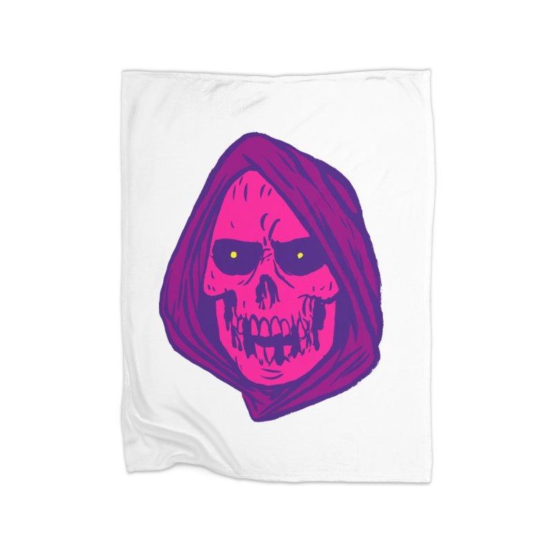 Skull Home Fleece Blanket Blanket by JB Roe Artist Shop
