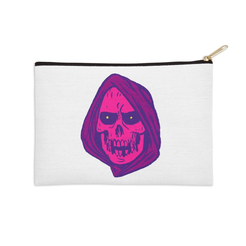 Skull Accessories Zip Pouch by JB Roe Artist Shop