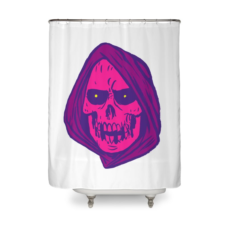 Skull Home Shower Curtain by JB Roe Artist Shop