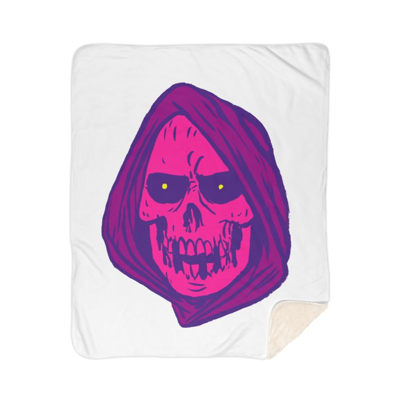 Skull Home Blanket by JB Roe Artist Shop