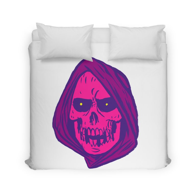 Skull Home Duvet by JB Roe Artist Shop