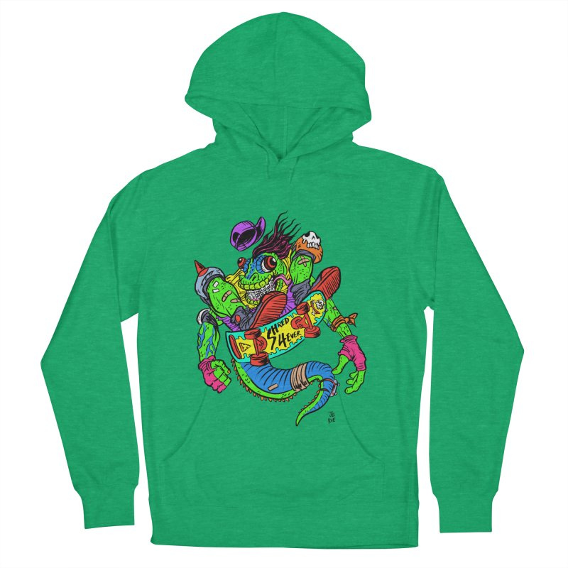 M Gecko Women's French Terry Pullover Hoody by JB Roe Artist Shop