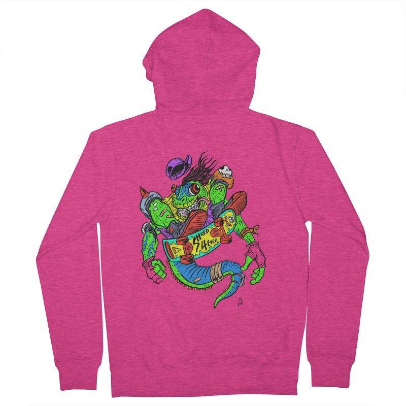 M Gecko Women's French Terry Zip-Up Hoody by JB Roe Artist Shop