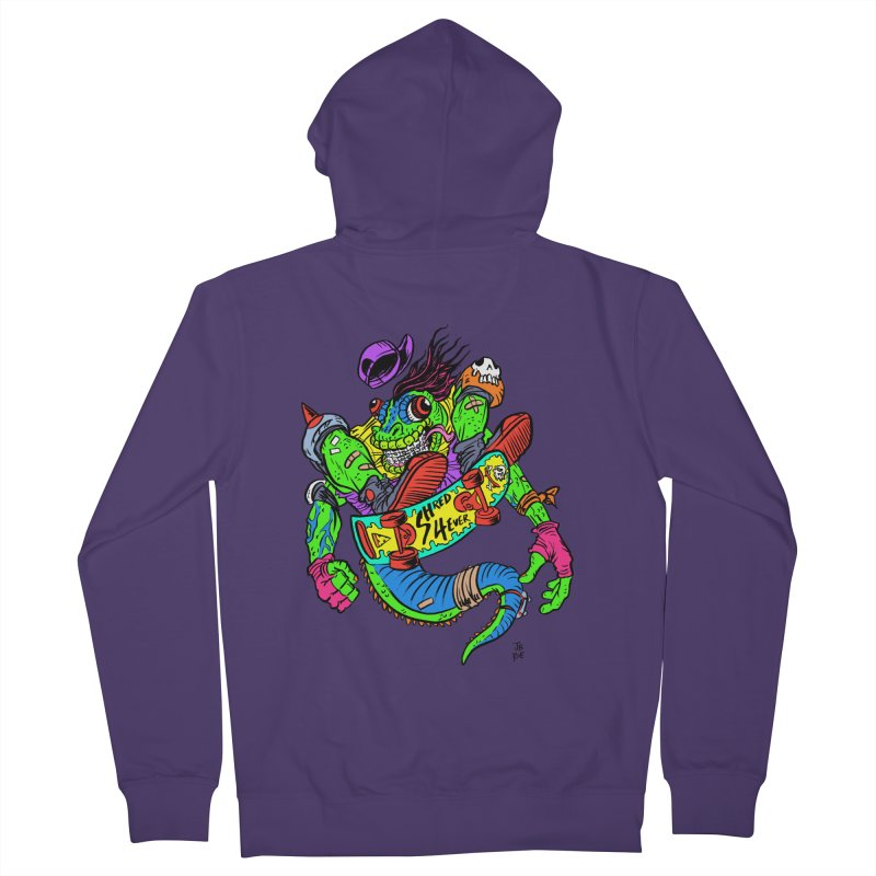 M Gecko Women's French Terry Zip-Up Hoody by JB Roe Artist Shop