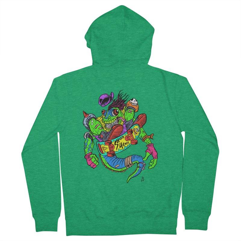 M Gecko Men's Zip-Up Hoody by JB Roe Artist Shop
