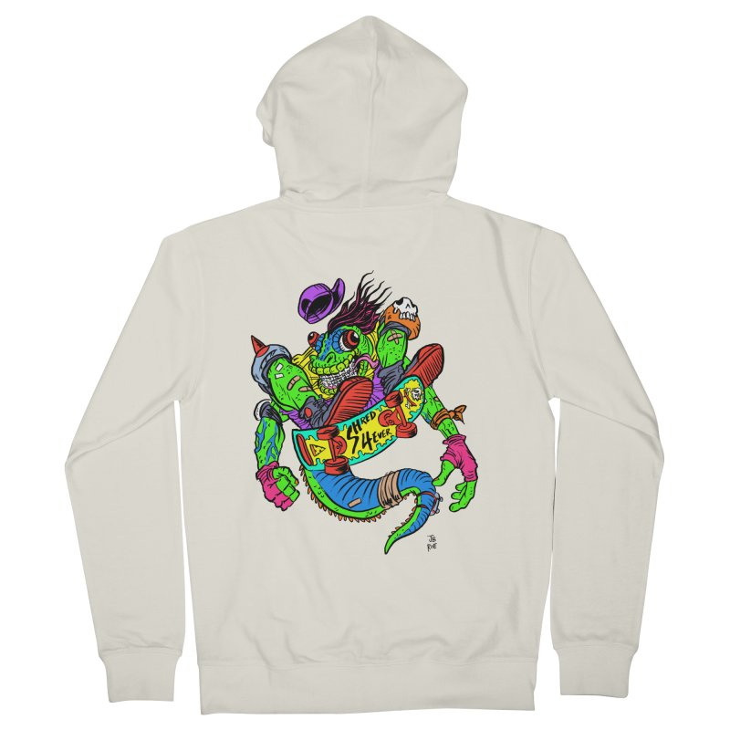 M Gecko Men's French Terry Zip-Up Hoody by JB Roe Artist Shop