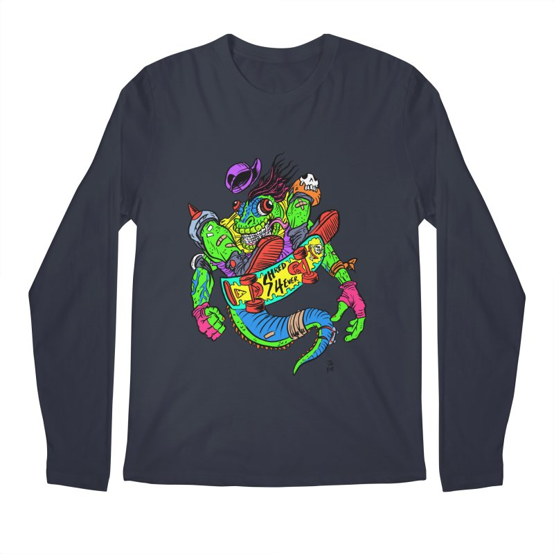 M Gecko Men's Regular Longsleeve T-Shirt by JB Roe Artist Shop