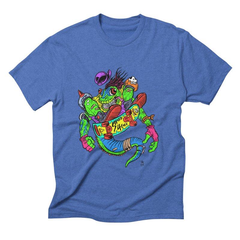 M Gecko Men's Triblend T-Shirt by JB Roe Artist Shop