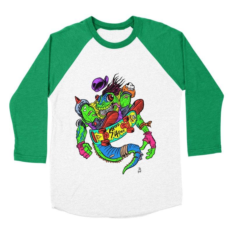 M Gecko Women's Baseball Triblend Longsleeve T-Shirt by JB Roe Artist Shop