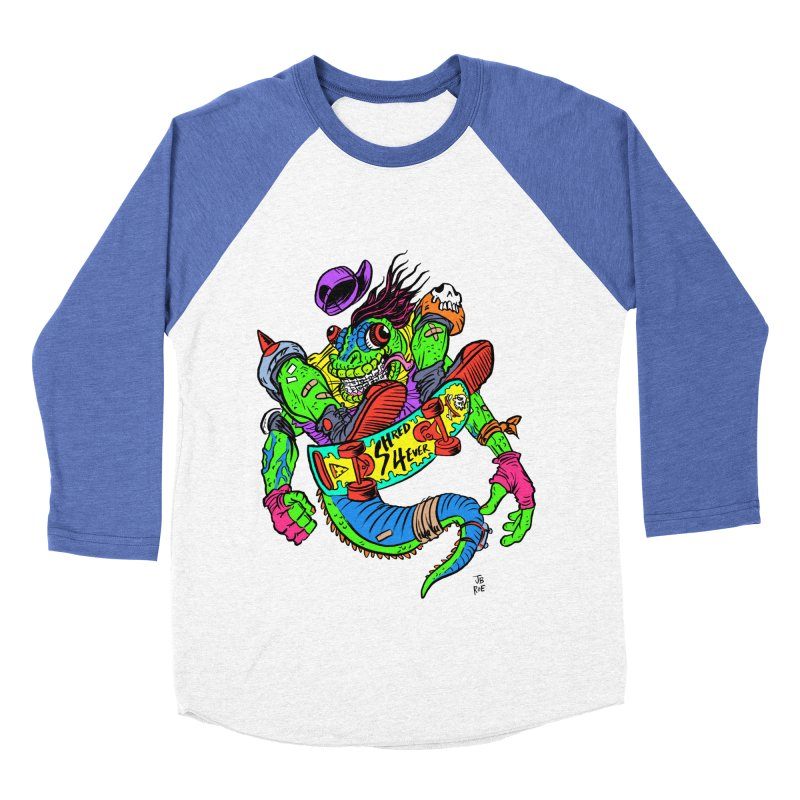M Gecko Men's Baseball Triblend Longsleeve T-Shirt by JB Roe Artist Shop