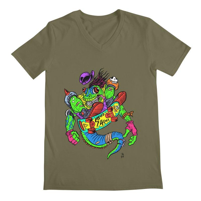 M Gecko Men's Regular V-Neck by JB Roe Artist Shop