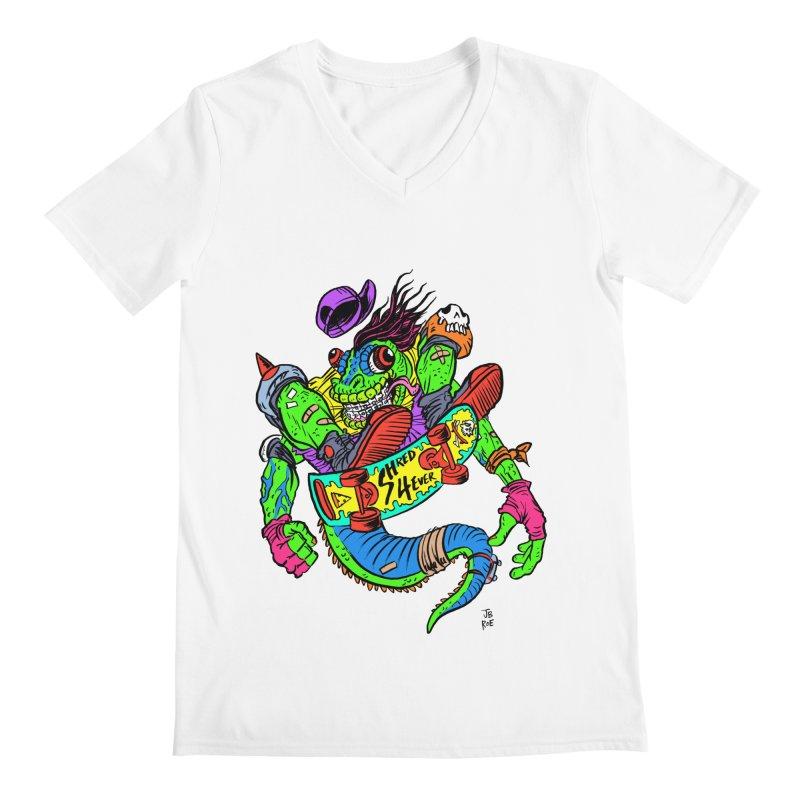 M Gecko Men's V-Neck by JB Roe Artist Shop