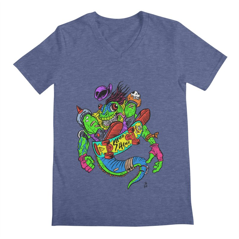 M Gecko Men's Regular V-Neck by JB Roe Artist Shop