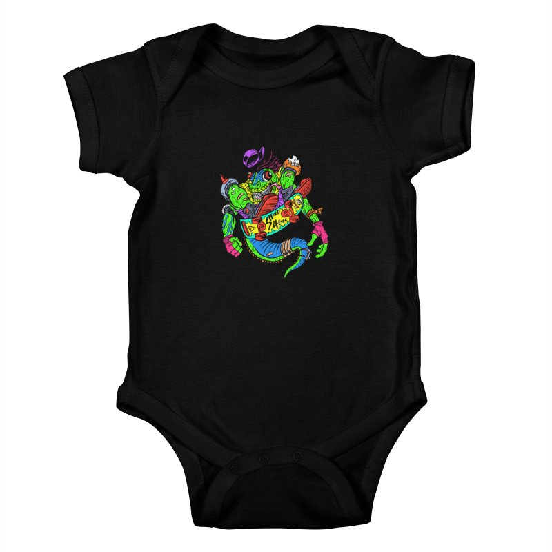 M Gecko Kids Baby Bodysuit by JB Roe Artist Shop