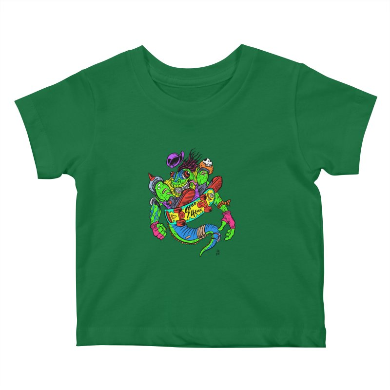 M Gecko Kids Baby T-Shirt by JB Roe Artist Shop