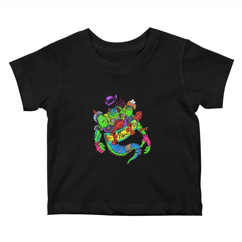 M Gecko Kids Baby T-Shirt by JB Roe Artist Shop