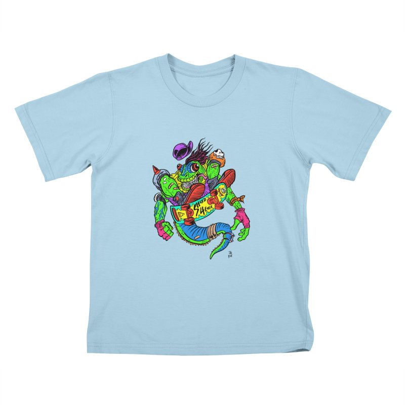 M Gecko Kids T-Shirt by JB Roe Artist Shop