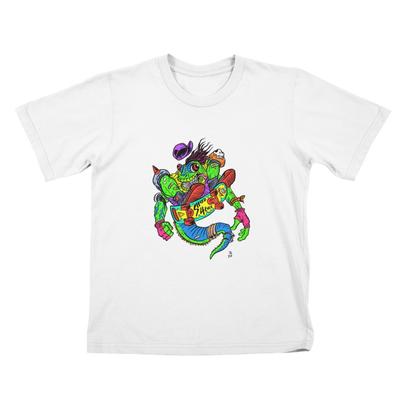 M Gecko Kids T-Shirt by JB Roe Artist Shop