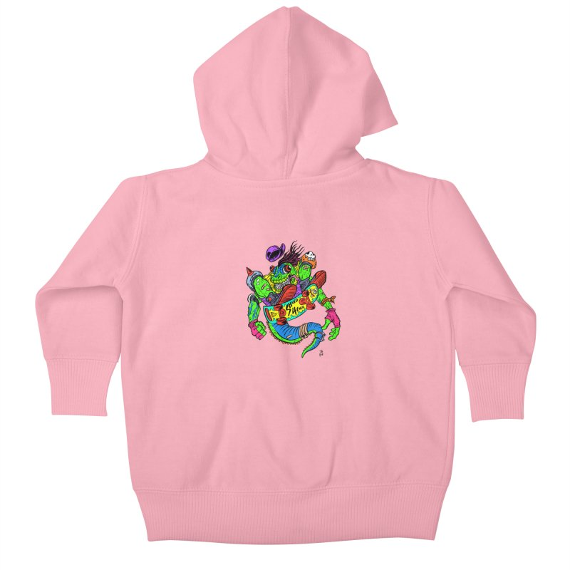 M Gecko Kids Baby Zip-Up Hoody by JB Roe Artist Shop