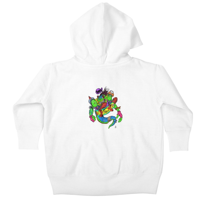M Gecko Kids Baby Zip-Up Hoody by JB Roe Artist Shop