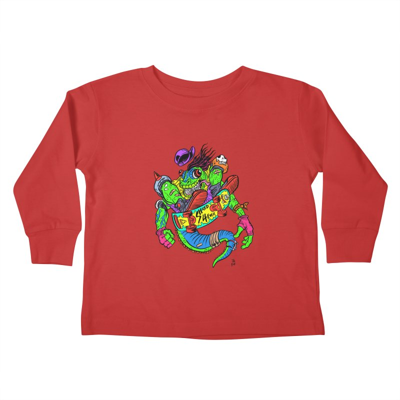 M Gecko Kids Toddler Longsleeve T-Shirt by JB Roe Artist Shop