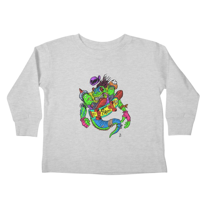 M Gecko Kids Toddler Longsleeve T-Shirt by JB Roe Artist Shop