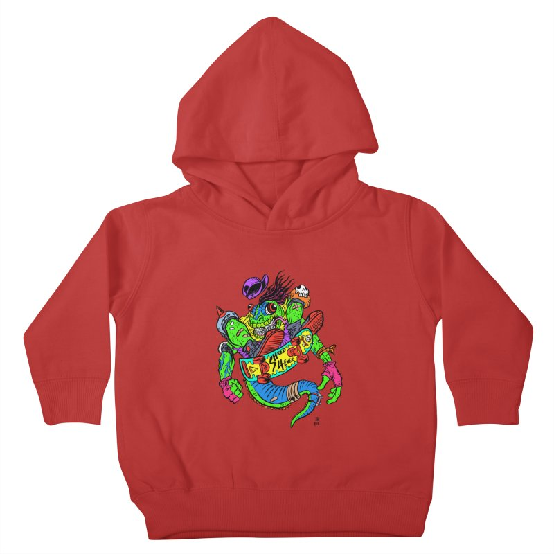 M Gecko Kids Toddler Pullover Hoody by JB Roe Artist Shop