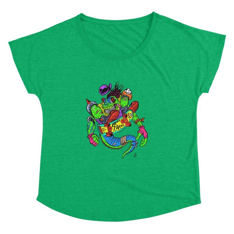 M Gecko Women's Dolman Scoop Neck by JB Roe Artist Shop