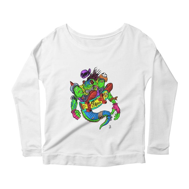 M Gecko Women's Scoop Neck Longsleeve T-Shirt by JB Roe Artist Shop