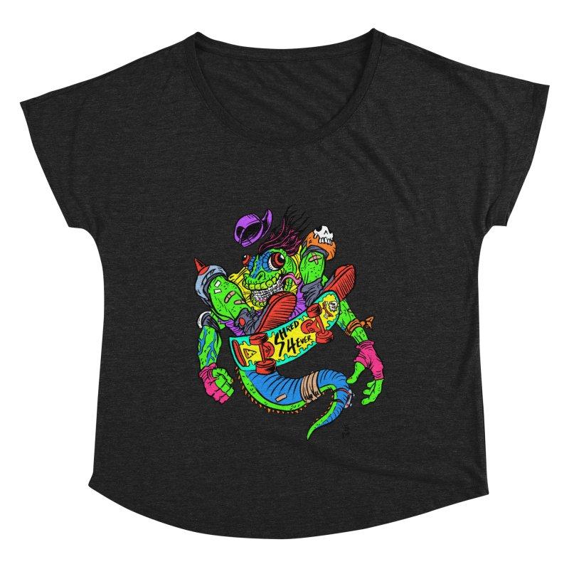 M Gecko Women's Scoop Neck by JB Roe Artist Shop