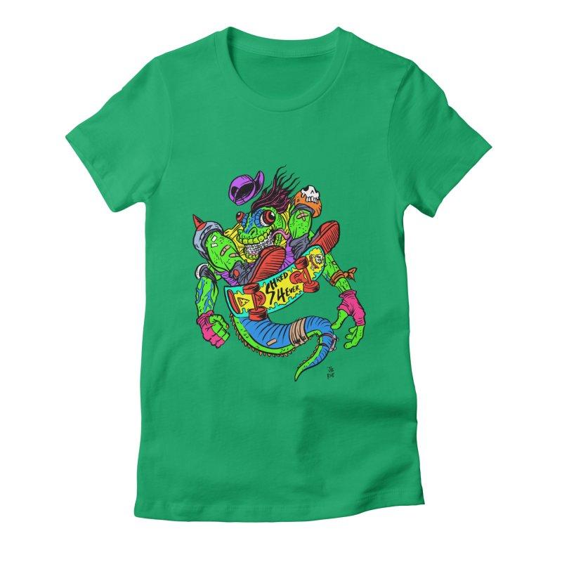 M Gecko Women's Fitted T-Shirt by JB Roe Artist Shop