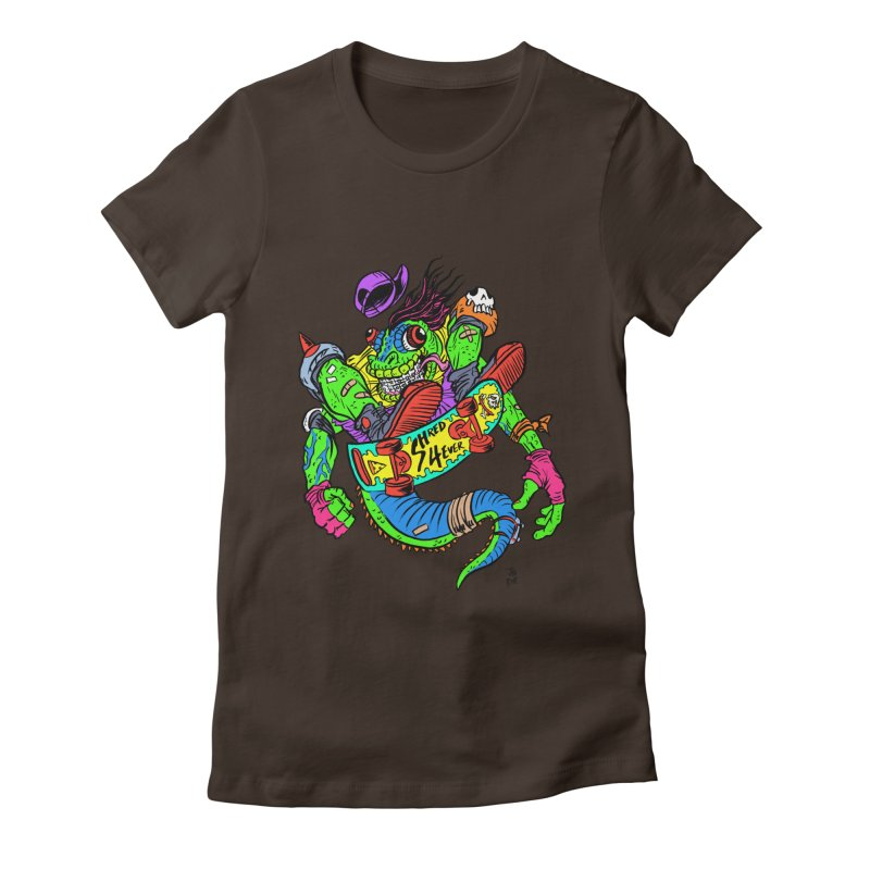 M Gecko Women's Fitted T-Shirt by JB Roe Artist Shop
