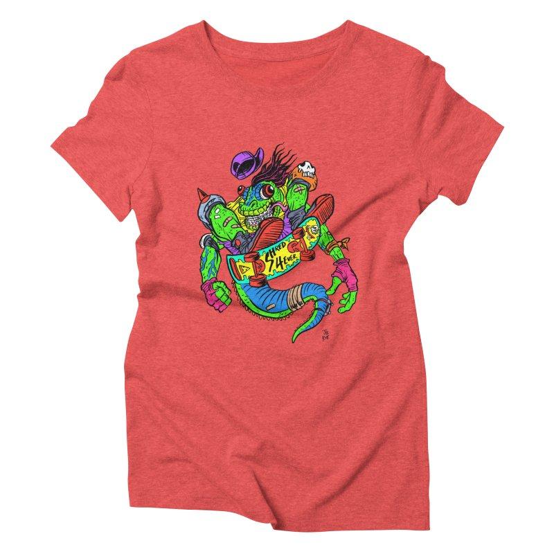 M Gecko Women's Triblend T-Shirt by JB Roe Artist Shop